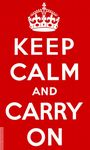 KEEP CALM AND CARRY ON (RED) - 5 X 3 FLAG